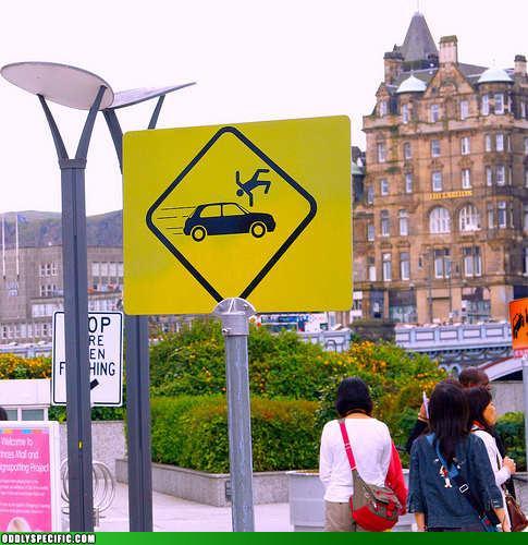 Funny Signs - Beware Of Stuntmen
