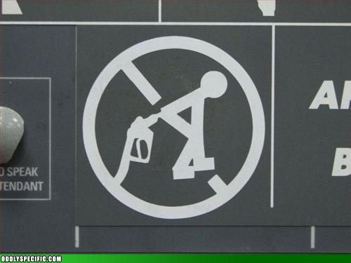 Funny Signs - Stickman Gas Enema