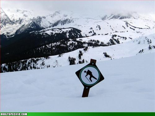 Funny Signs - Snow Stickman