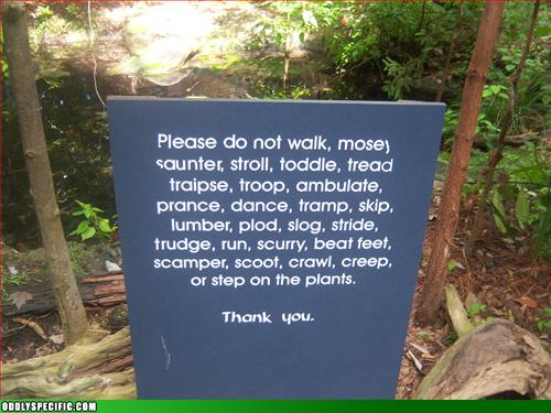 Funny Signs - Just Don't Touch The Freakin Plants Okay!