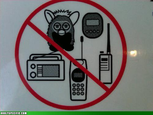 Funny Signs - No Furbies