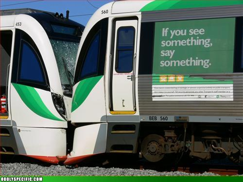 funny signs - I See A Couple Of Bad Train Conductors.