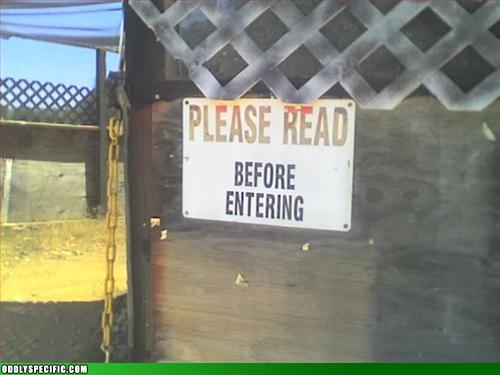 funny signs - Those Poor Illiterates