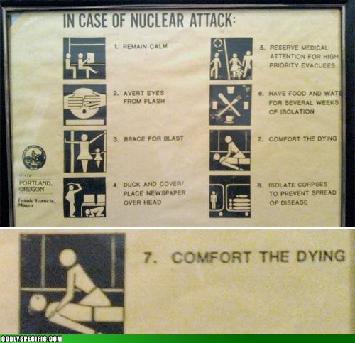 Funny Signs - In Case Of Nuclear Attack