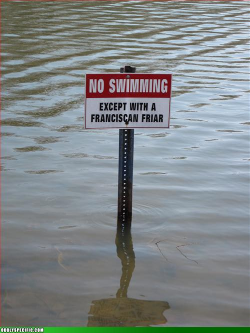 Funny Signs - No After-lifeguard on Duty?
