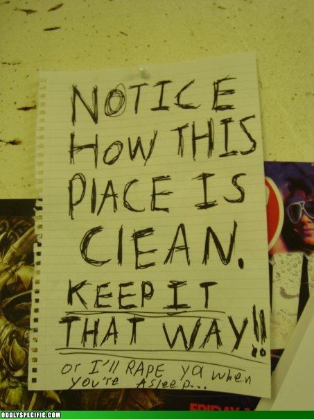 Funny Signs - I'll Go Buy a Mop