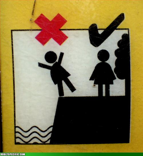 Funny Signs - Water Edge