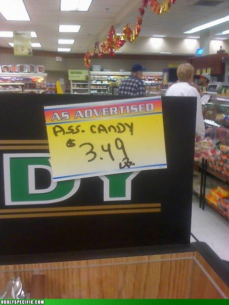 Funny Signs - Mmm, Ass Candy