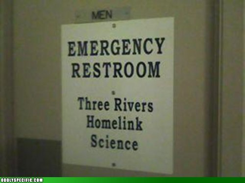 Funny Signs - For Emergencies Only